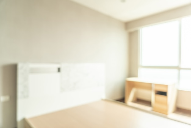 Abstract blur bedroom Premium Photo