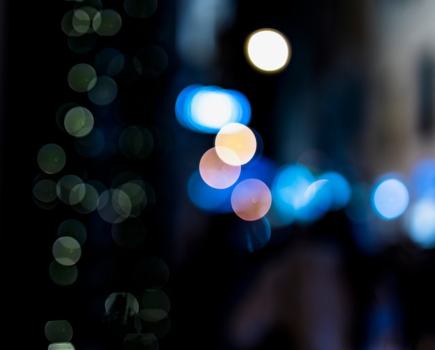 Abstract blur blue bokeh background Free Photo