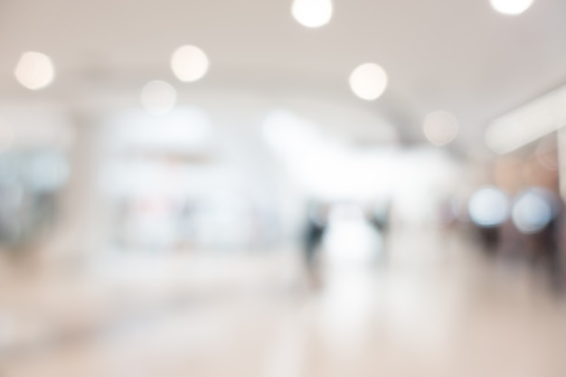 Abstract blur and bokeh shopping mall and retails store Free Photo