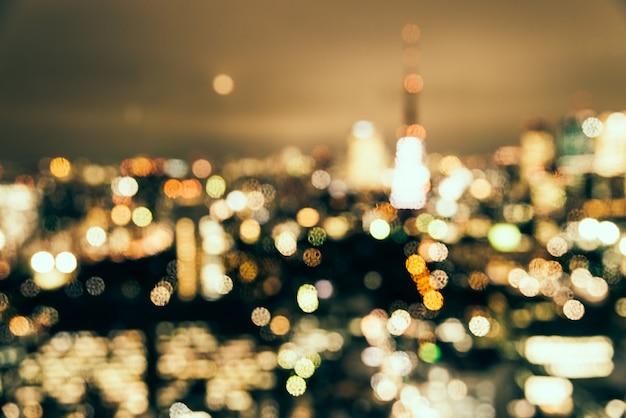 Abstract blur bokeh tokyo city background Free Photo