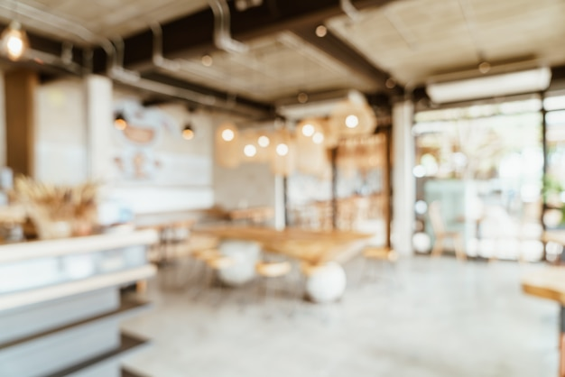 Abstract blur cafe or coffee shop Premium Photo