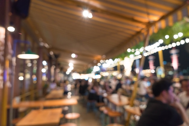 Abstract blur in cafe Premium Photo