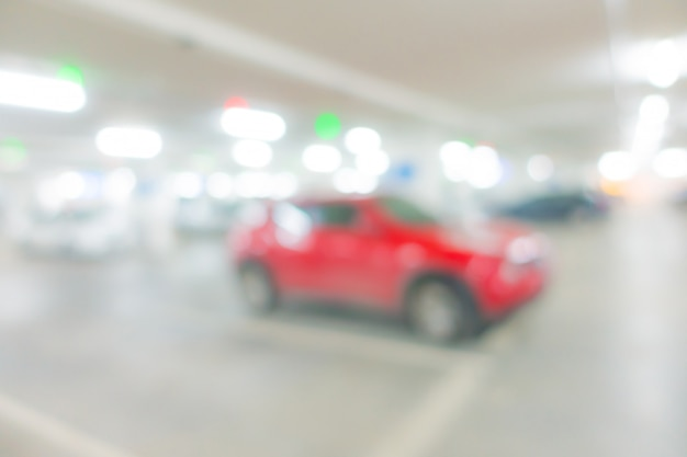 Abstract blur car park background  . Premium Photo