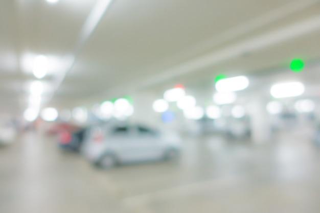 Abstract blur car park background Premium Photo