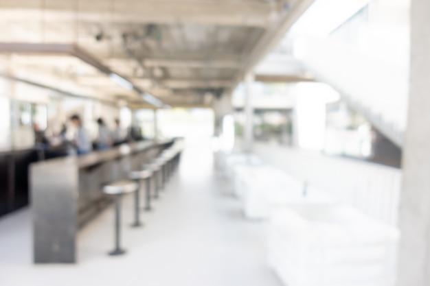 抽象的なぼかしコーヒーショップ、カフェレストラン Premium写真