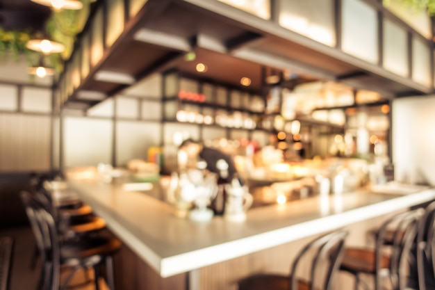 Abstract blur coffee shop cafe interior Free Photo
