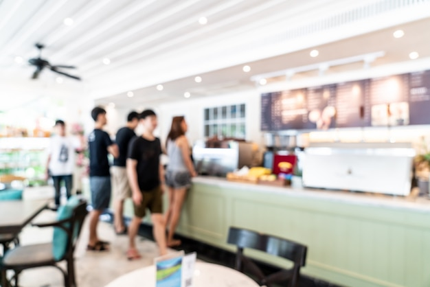 Abstract blur in coffee shop and cafe restaurant for Premium Photo