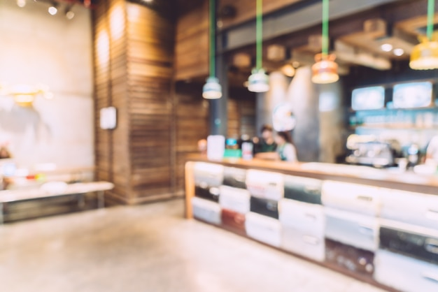 Abstract blur coffee shop Free Photo