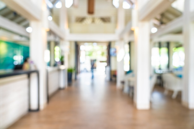 Abstract blur and defocus hotel lobby interior Free Photo