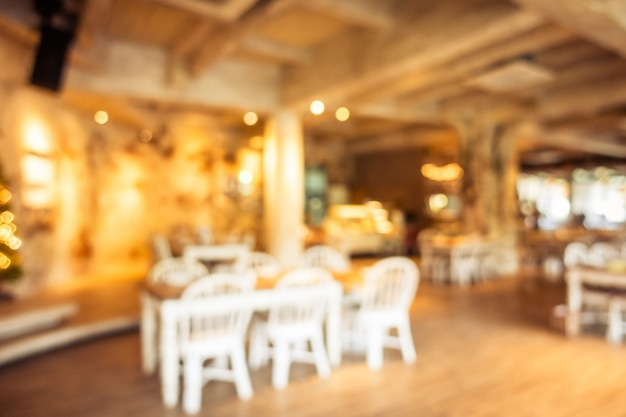 Abstract blur and defocused coffee shop cafe and restaurant Free Photo