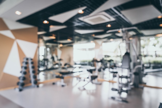 Abstract blur and defocused fitness gym for background Premium Photo