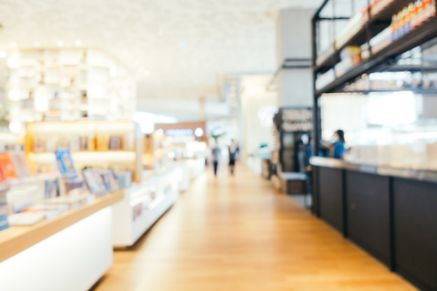 Abstract blur and defocused library and book store shop interior Free Photo
