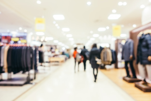 Abstract blur and defocused luxury shopping mall of department store, blurred photo background Free Photo