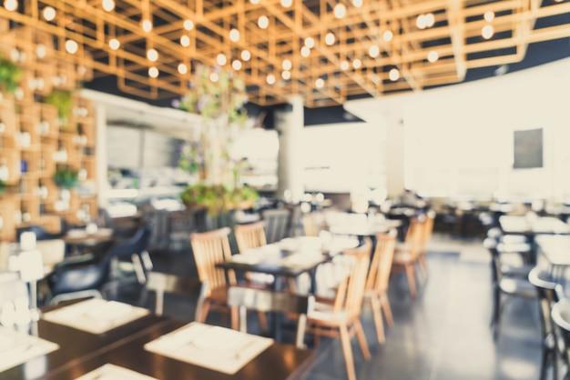 Abstract blur and defocused in restaurant Premium Photo