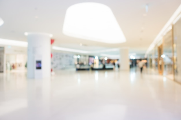 Abstract blur and defocused shopping mall Free Photo