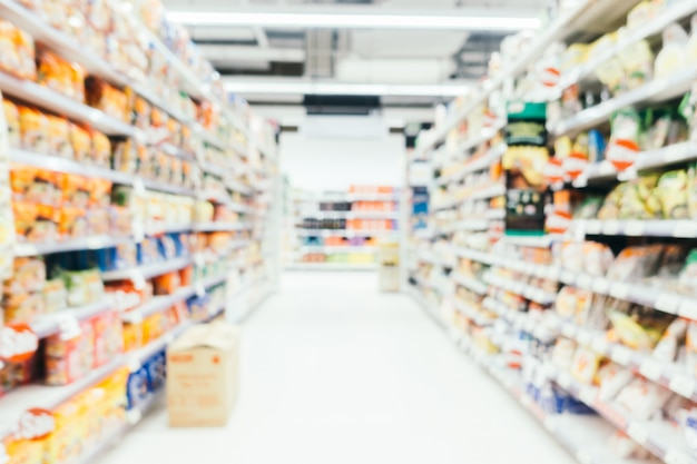 Abstract blur and defocused supermarket Free Photo