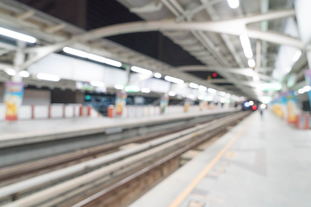 Abstract blur electrical train station Free Photo