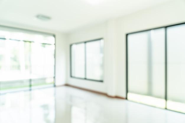 Abstract blur empty room with window and door in home Premium Photo
