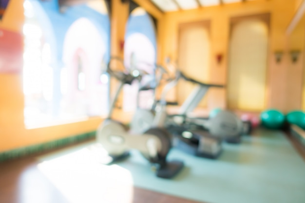 Abstract blur fitness and gym interior Free Photo