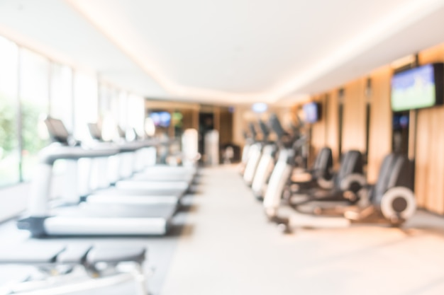 Abstract blur fitness and gym room interior Free Photo