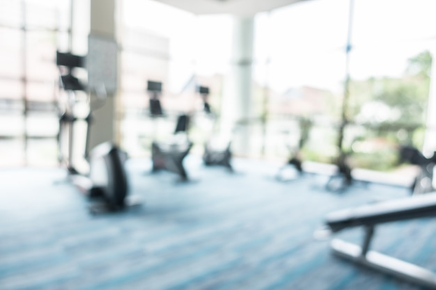 Abstract blur fitness and gym room Free Photo