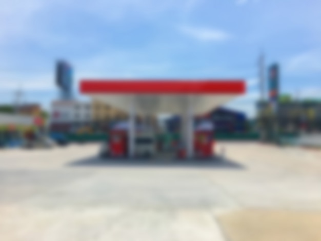 Abstract blur fuel gas station Free Photo