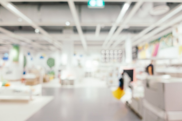 Abstract blur furniture decoration and warehouse store Free Photo