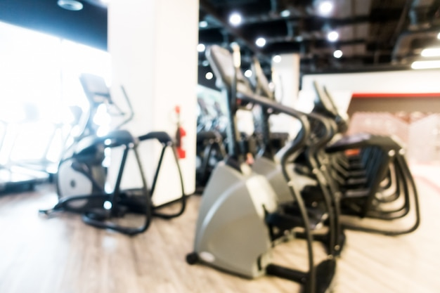 Abstract blur gym and fitness room interior Free Photo