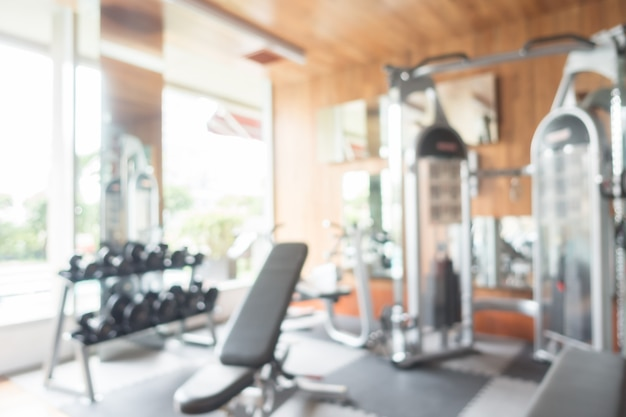 Abstract blur gym and fitness room Free Photo