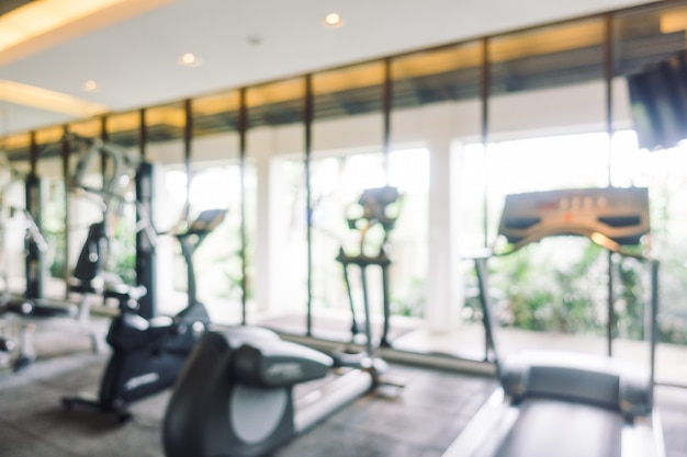 Abstract blur gym room Free Photo