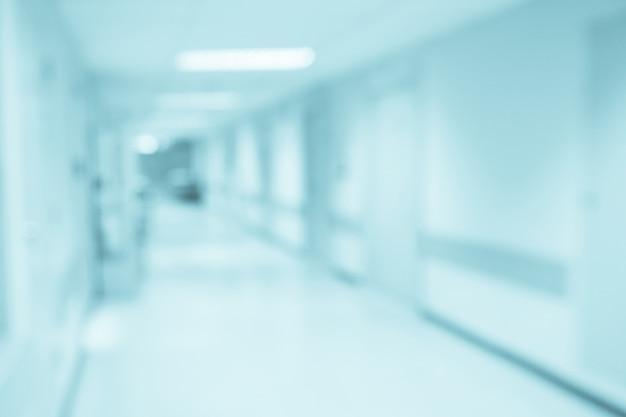 추상 흐림 병원 복도 Defocused 의료 배경 프리미엄 사진