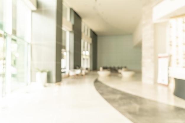 배경에 대 한 추상 흐림 호텔 로비 프리미엄 사진