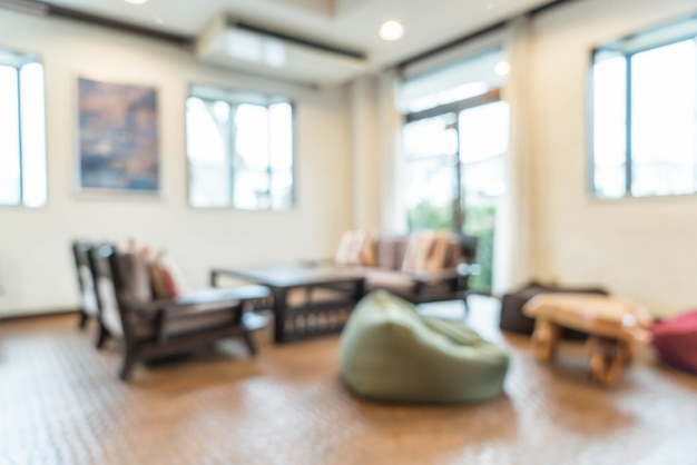 Abstract blur interior decoration in living room Photo   Premium ...