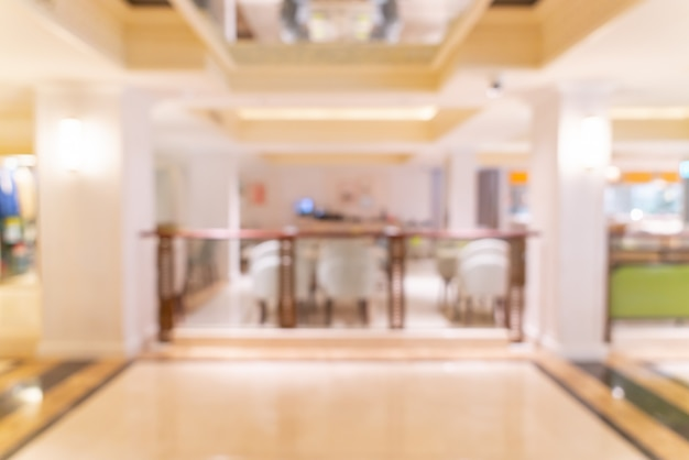 추상 흐림 고급 호텔 로비와 라운지 프리미엄 사진