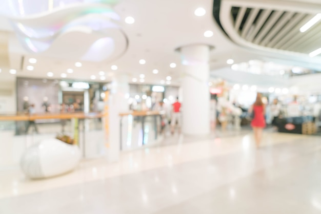 Abstract blur in luxury shopping mall and retail store Premium Photo