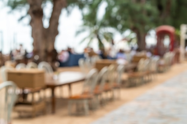 Abstract blur outdoor cafe restaurant as blurred background Premium Photo