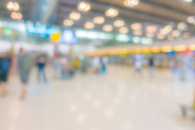Abstract blur passenger in the airport Premium Photo