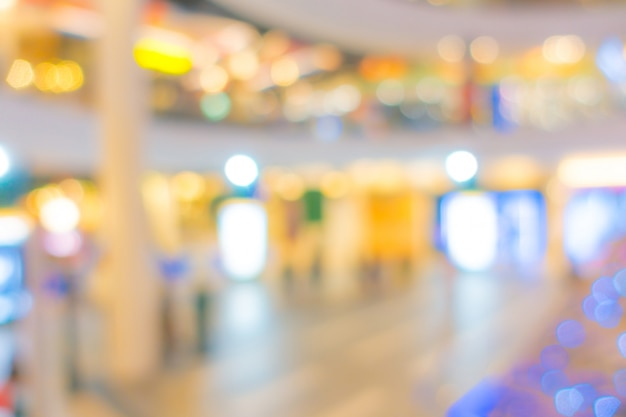Abstract blur people in shopping center Premium Photo