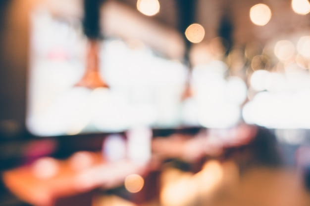 Abstract blur restaurant and coffee shop cafe Free Photo