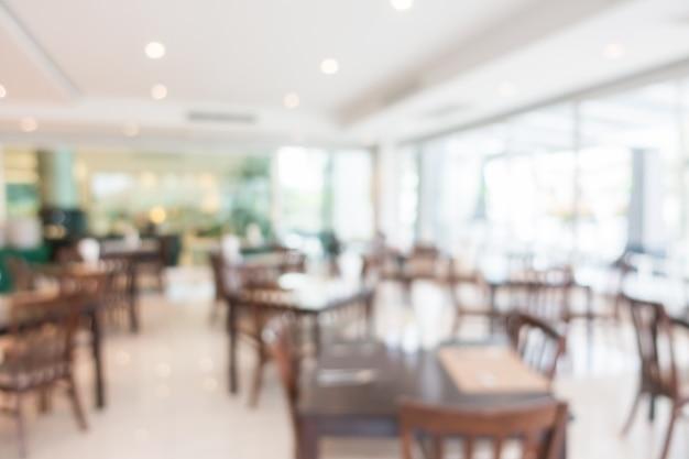 Abstract blur restaurant interior Free Photo