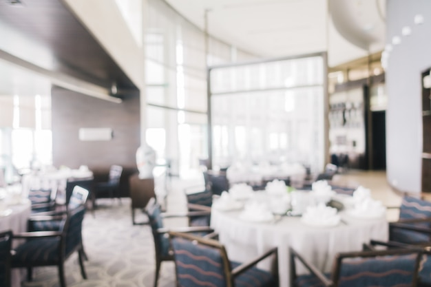 Abstract blur restaurant Free Photo