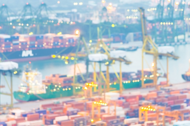 Abstract blur shipping crane cargo background Free Photo