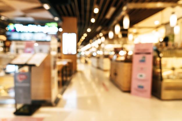 Абстрактный размытие торговый центр для фона Premium Фотографии