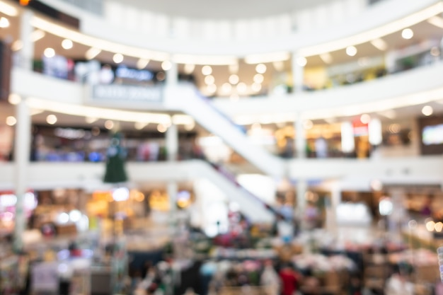Abstract blur shopping mall interior of department store Free Photo