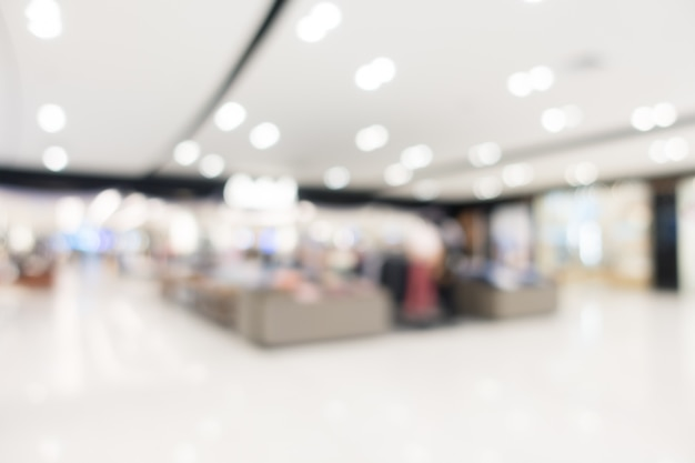 Abstract blur shopping mall and retail store Free Photo