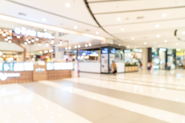 Abstract blur shopping mall Premium Photo