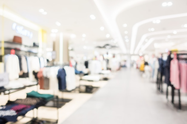 Abstract blur shopping mall Free Photo
