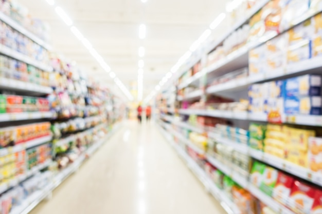 Abstract blur supermarket and retail store Free Photo