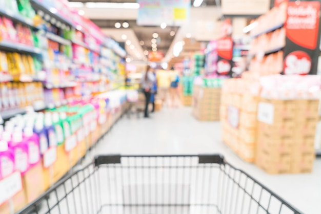Abstract blur in supermarket Free Photo
