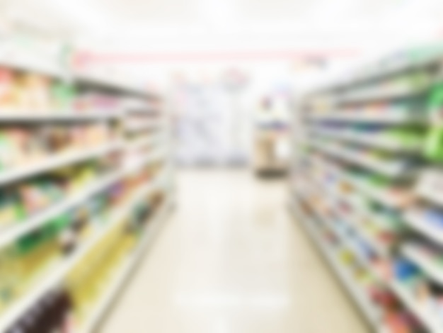 Abstract blur supermarket Free Photo